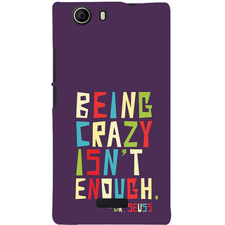 ifasho Crazy Quotes Back Case Cover for Micromax Canvas Nitro 2 E311