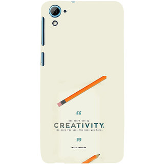 ifasho quotes on creativity Back Case Cover for HTC Desire 828