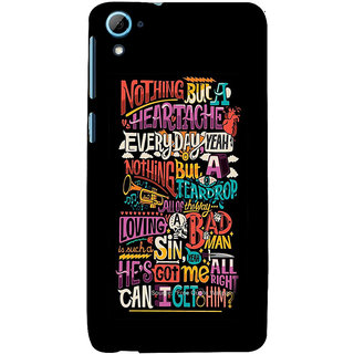 ifasho Love Quotes Back Case Cover for HTC Desire 828