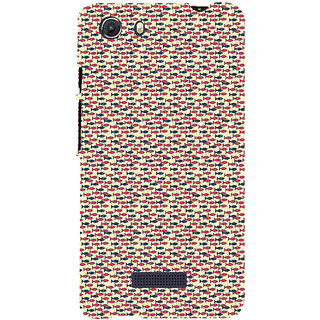 ifasho Modern Art Design Pattern Lot of fish Back Case Cover for Micromax Unite3 Q372
