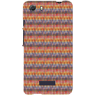 ifasho Animated Pattern of Chevron style pencils arrows Back Case Cover for Micromax Unite3 Q372