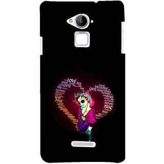 ifasho Animated Pattern With Love and heart and Ishq Back Case Cover for Coolpad Note 3