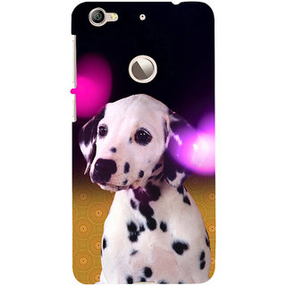 ifasho Black and White Dot Dog Back Case Cover for LeTV 1S