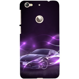 ifasho Purple car Back Case Cover for LeTV 1S