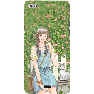 ifasho Girl in park Back Case Cover for Micromax Canvas Sliver 5 Q450