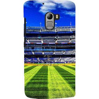 ifasho Football stadium field Baseball field Back Case Cover for Lenovo K4 Note