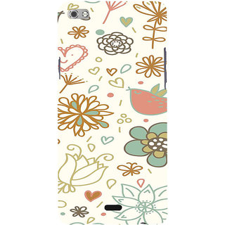 ifasho Animated Pattern colrful design cartoon flower with leaves Back Case Cover for Micromax Canvas Sliver 5 Q450