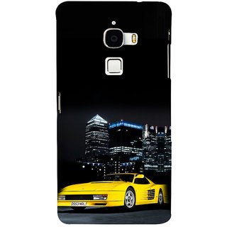 ifasho Stylish Yellow Car Back Case Cover for Le TV Max