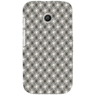 ifasho Animated Pattern Littel Flowers Back Case Cover for MOTO E
