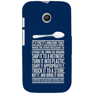 ifasho Think Out of Box quotes Back Case Cover for MOTO E