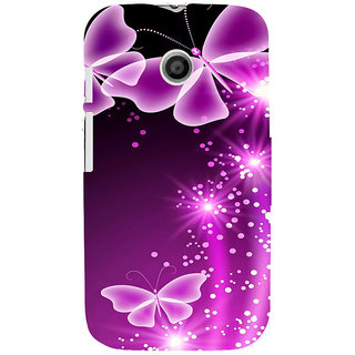 ifasho Butterfly Back Case Cover for MOTO E
