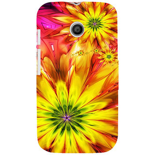 ifasho Flower Design multi color Back Case Cover for MOTO E