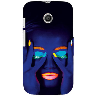 ifasho Girl with shining eyes and lips Back Case Cover for MOTO E