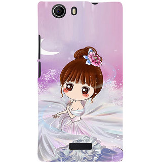 ifasho Princess Girl Back Case Cover for Micromax Canvas Nitro 2 E311