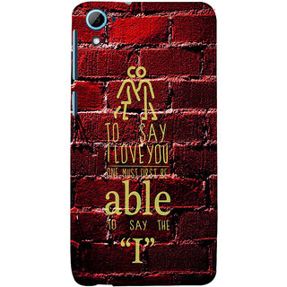 ifasho Love Quotes I love you Back Case Cover for HTC Desire 828