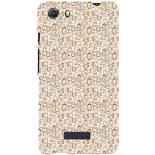 ifasho single color rectangle and circle and dots Pattern Back Case Cover for Micromax Unite3 Q372
