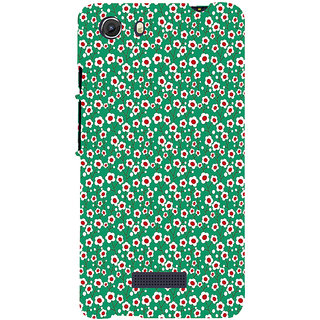 ifasho Pattern green white and red animated flower design Back Case Cover for Micromax Unite3 Q372