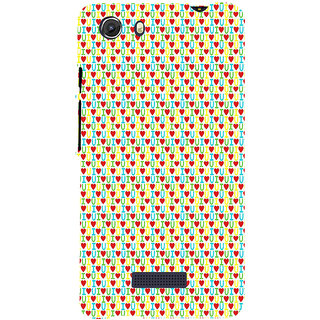 ifasho Animated Pattern With Love and heart and I love you Back Case Cover for Micromax Unite3 Q372