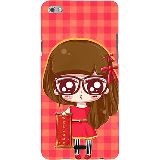 ifasho Crazy Girl Back Case Cover for Micromax Canvas Sliver 5 Q450