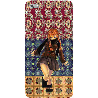 ifasho Dancing girl Back Case Cover for Micromax Canvas Sliver 5 Q450