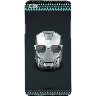ifasho Angry mask iron Back Case Cover for Micromax Canvas Sliver 5 Q450