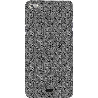 ifasho Animated Pattern design black and white flower in royal style Back Case Cover for Micromax Canvas Sliver 5 Q450