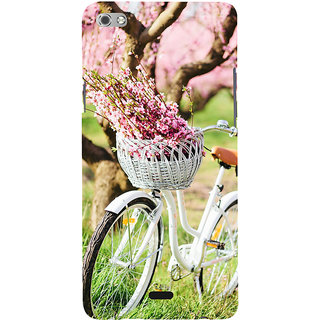 ifasho Cycle in a park with flowers and grass Back Case Cover for Micromax Canvas Sliver 5 Q450