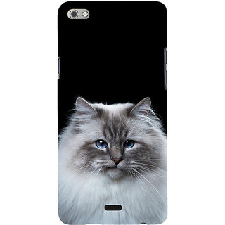 ifasho Innocent Cat with brown Eyes Back Case Cover for Micromax Canvas Sliver 5 Q450