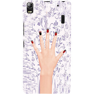 ifasho girl finger with nail polish design Back Case Cover for Lenovo A7000