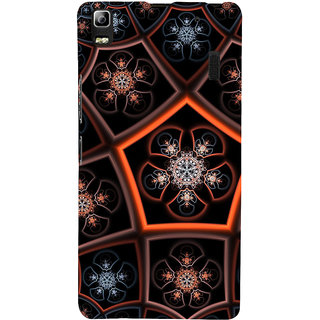 ifasho Animated Pattern design colorful flower in royal style Back Case Cover for Lenovo A7000