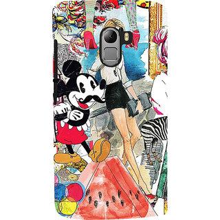 ifasho Modern Art Design Pattern girl shop car food bird Back Case Cover for Lenovo K4 Note
