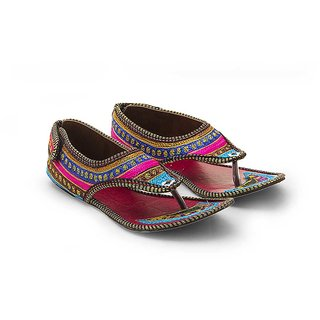 Great Art Women Resham Work Multi Color Fashionable Sandals 321