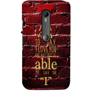 ifasho Love Quotes I love you Back Case Cover for Moto X Force