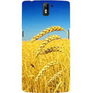 ifasho Rice grown in rice field Back Case Cover for One Plus One