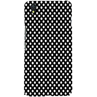 ifasho Modern Theme of white dots in black background Back Case Cover for One Plus X