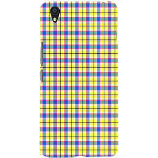 ifasho Colour Full yellow Squre Pattern Back Case Cover for One Plus X