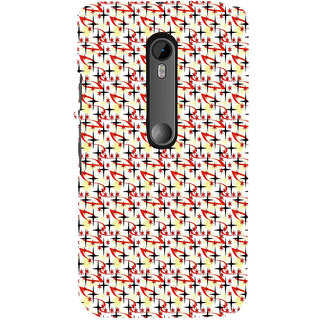 ifasho Animated Pattern colourful littel stars Back Case Cover for Moto G3