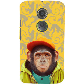 ifasho Monkey with red cap Back Case Cover for Moto E2