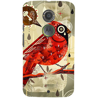 ifasho Animated Pattern birds and flowers Back Case Cover for Moto E2