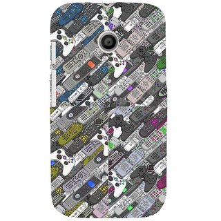ifasho Animated Pattern  littel and Big colourful remotes Back Case Cover for MOTO E