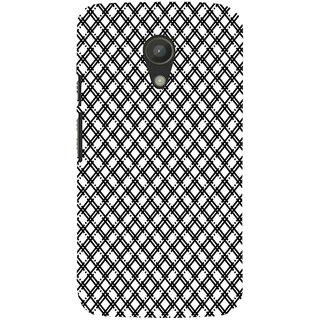 ifasho Modern Theme of black and white Squre lines Back Case Cover for Moto G2