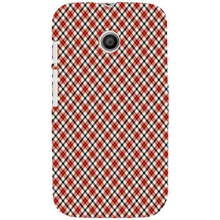 ifasho Colour Full Square Pattern Back Case Cover for MOTO E