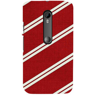 ifasho Design lines pattern Back Case Cover for Moto G3