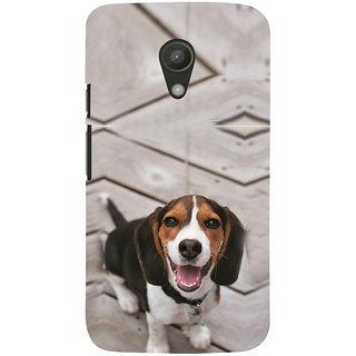ifasho Grey Dog Back Case Cover for Moto G2
