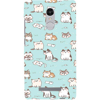 ifasho Animated Design  Many Cat Back Case Cover for REDMI Note 3