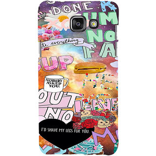 ifasho animated Modern Art Design Pattern dog love food quotes Back Case Cover for Samsung Galaxy A5 A510 (2016 Edition)