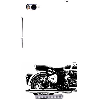 ifasho Royal Bike Back Case Cover for Redmi Mi4i