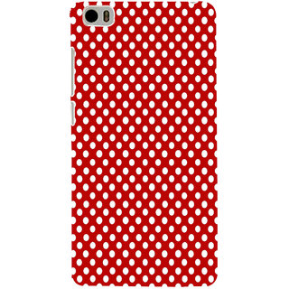 ifasho Animation Clourful white Circle on red background Pattern Back Case Cover for Redmi Mi5
