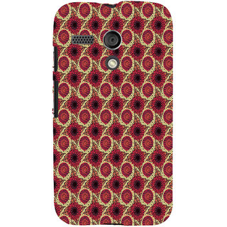 ifasho Animated Pattern design flower with leaves Back Case Cover for Moto G