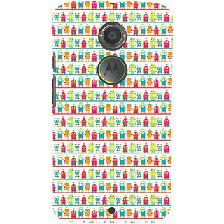 ifasho Modern Art Design Pattern Lot Doll and postbox  Back Case Cover for Moto E2